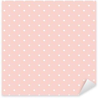 Pixerstick Aufkleber Polka Dots auf rosa Hintergrund nahtlose Vektor-Muster