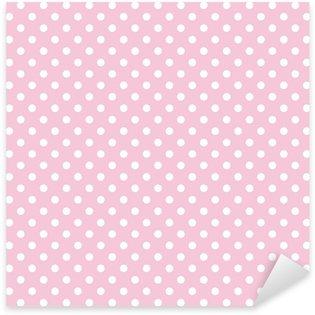 Pixerstick Aufkleber Polka Dots auf rosa Hintergrund retro nahtlose Vektor-Muster