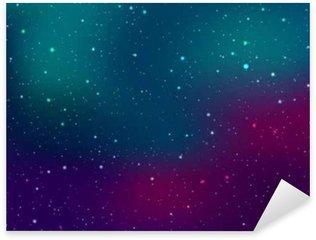 Pixerstick Aufkleber Raum Hintergrund mit Sternen und Patches von Licht. Abstrakte astronomische galaxie Illustration.