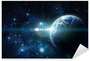 Pixerstick Aufkleber Realistische Planeten Erde im Weltraum