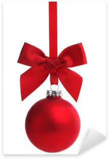 Pixerstick Aufkleber Red christmas ball