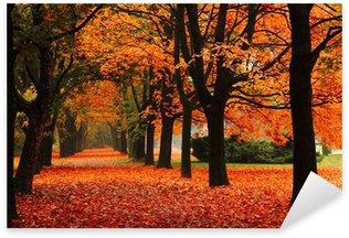Pixerstick Aufkleber Red Herbst im Park