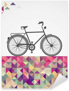 Pixerstick Aufkleber Retro Hipster Fahrrad geometrischen Elementen.