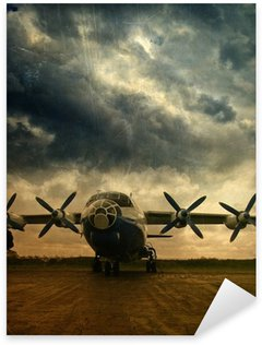Pixerstick Aufkleber Retro Luftfahrt-, Grunge-Hintergrund