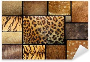 Pixerstick Aufkleber Sammlung von strukturierten - Tierfell