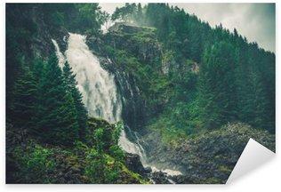 Pixerstick Aufkleber Scenic Norwegischer Wasserfall