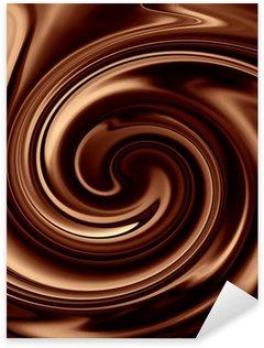Pixerstick Aufkleber Schokolade Hintergrund
