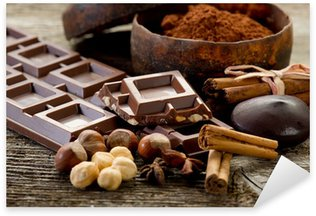 Pixerstick Aufkleber Schokolade mit Zutaten-cioccolato e ingredienti