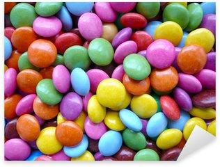 Pixerstick Aufkleber Schokolade Pop-Farben