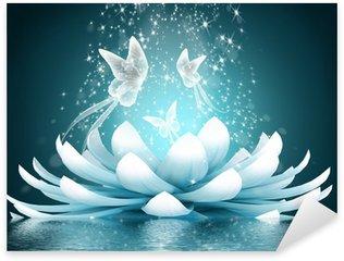 Pixerstick Aufkleber Schöne Lotusblüte