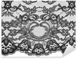 Pixerstick Aufkleber Schwarz feinen Spitzen floral texture