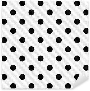 Pixerstick Aufkleber Schwarze Tupfen auf weißem Hintergrund Textured Stoff