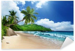 Pixerstick Aufkleber Strand an der Insel Mahé, Seychellen