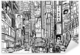 Pixerstick Aufkleber Straße in New York City