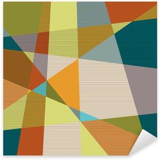 Pixerstick Aufkleber Strukturierte retro geometrischen Hintergrund