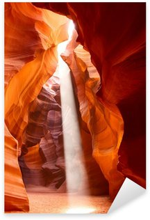 Pixerstick Aufkleber Sunbeam in Upper Antelope Canyon, Arizona, USA