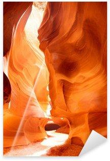 Pixerstick Aufkleber Sunbeam in Upper Antelope Canyon, USA