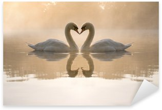 Pixerstick Aufkleber Swans Liebesinneres bilden