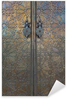 Pixerstick Aufkleber Tür an Dar El Makhzen, Marokko