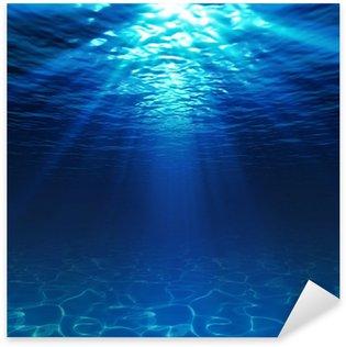 Pixerstick Aufkleber Unterwasser-Blick mit Sandboden