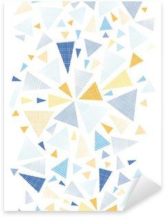 Pixerstick Aufkleber Vector bunten strukturierten Pfeile Dreiecke vertikale nahtlose