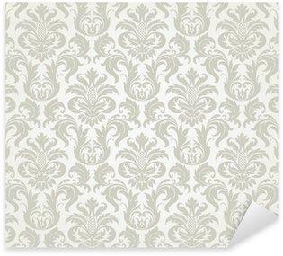 Pixerstick Aufkleber Vector seamless floral Damast-Muster