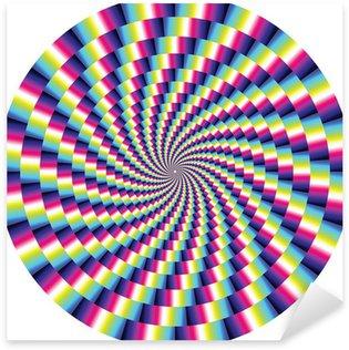 Pixerstick Aufkleber Vektor-optische Täuschung