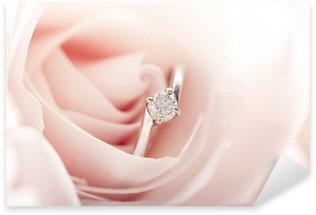 Pixerstick Aufkleber Verlobungsring in rosa Rose
