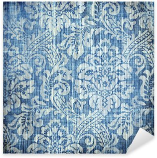 Pixerstick Aufkleber Vintage-Denim Textur mit noblen Mustern