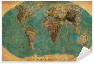 Pixerstick Aufkleber Vintage map
