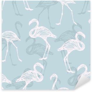 Pixerstick Aufkleber Vogel Flamingo Muster