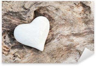 Pixerstick Aufkleber Weißes Herz