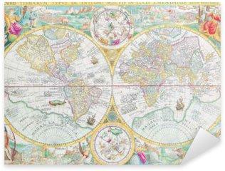 Pixerstick Aufkleber Welt Vintage-Karte