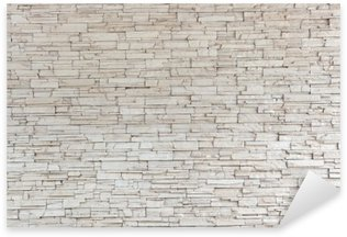 Pixerstick Aufkleber White Stone Tile Texture Brick Wall