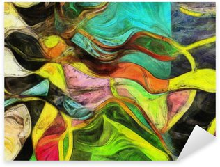 Pixerstick Aufkleber Wirbelnden Formen, Farbe und Linien