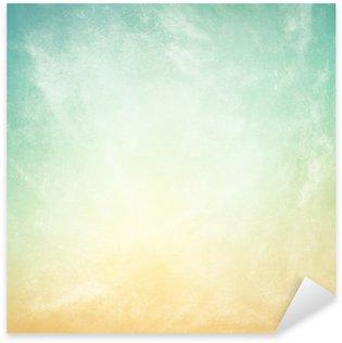 Pixerstick Aufkleber Wolken auf einem strukturierten Vintage-Papier Hintergrund