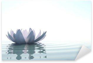 Pixerstick Aufkleber Zen Blume loto im Wasser