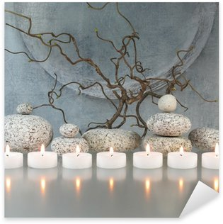 Pixerstick Aufkleber Zweige, Steine, Kerzen