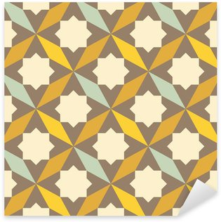 Autocolante Pixerstick abstract retro geometric pattern