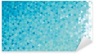 Autocolante Pixerstick Bandeira geométrica abstrata.