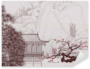 Autocolante Pixerstick Chinese landscape