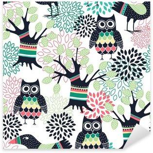 Autocolante Pixerstick Forest seamless pattern