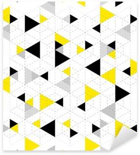 Autocolante Pixerstick Fundo padrão geométrico