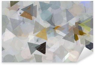 Autocolante Pixerstick Geometric shapes illustration. Brush paint pattern.
