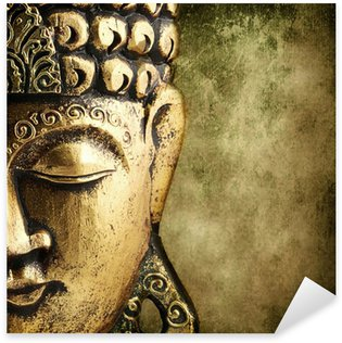 Autocolante Pixerstick golden Buddha