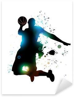 Autocolante Pixerstick Jogador de basquete abstrato