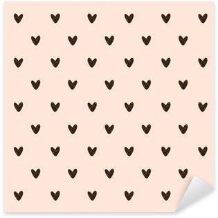 Autocolante Pixerstick Padrão de coração transparente