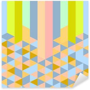 Autocolante Pixerstick Padrão de estilo deco abstrato retro geométrica arte pastel