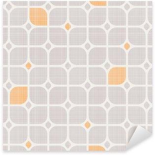 Autocolante Pixerstick Padrão geométrico sem emenda.