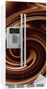 Autocolante para Frigorífico Chocolate background